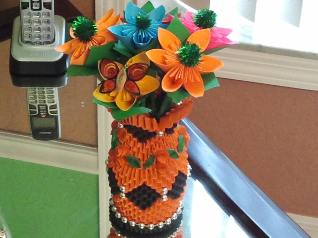 Origami 3d Flower Vase Images Decoration Ideas