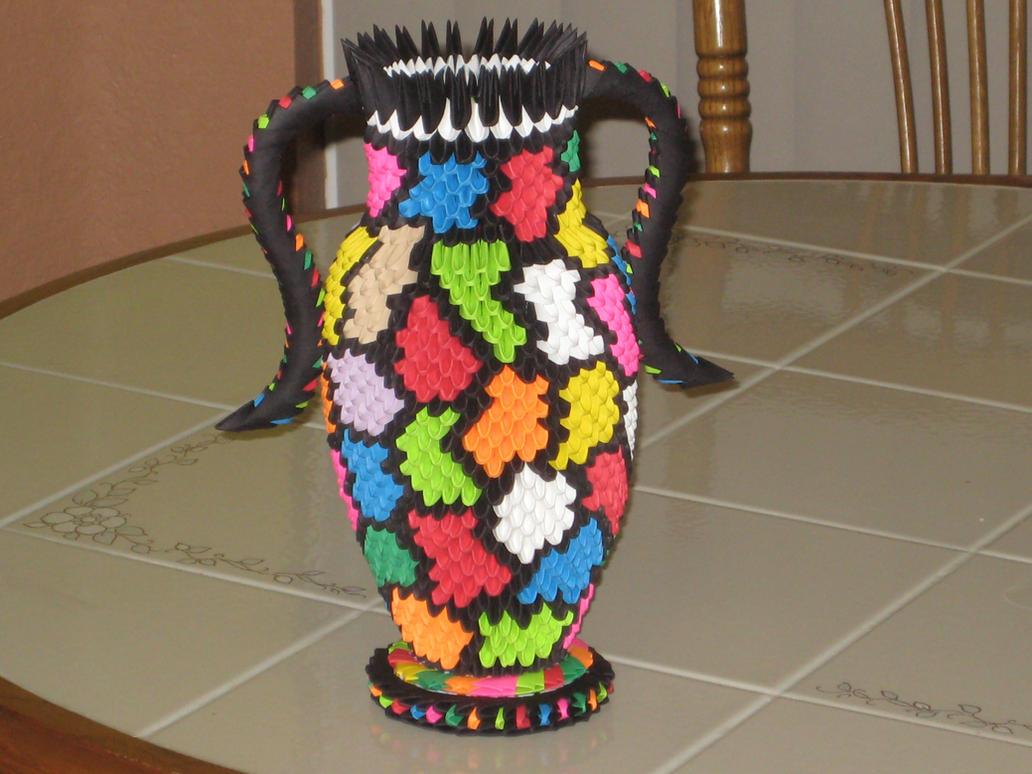 Vase 3d Origami By Esmeraldaarribas On Deviantart