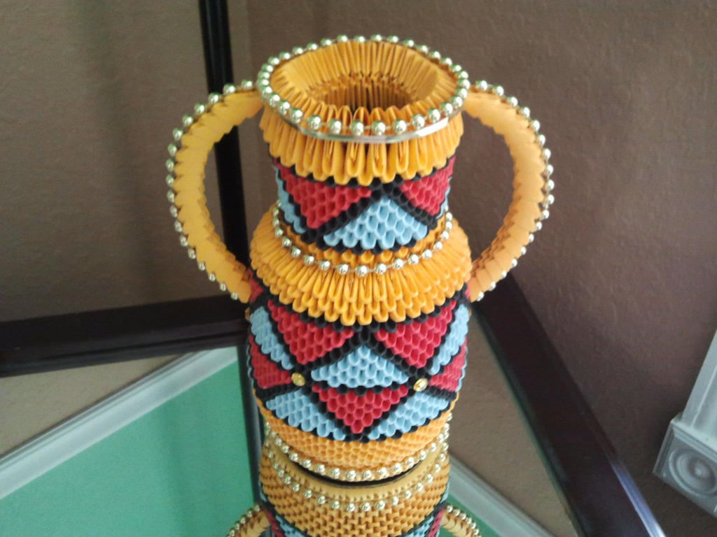 Vase-3D Origami by esmeraldaarribas on DeviantArt - photo#22