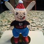 Rabbit-3D Origami by esmeraldaarribas