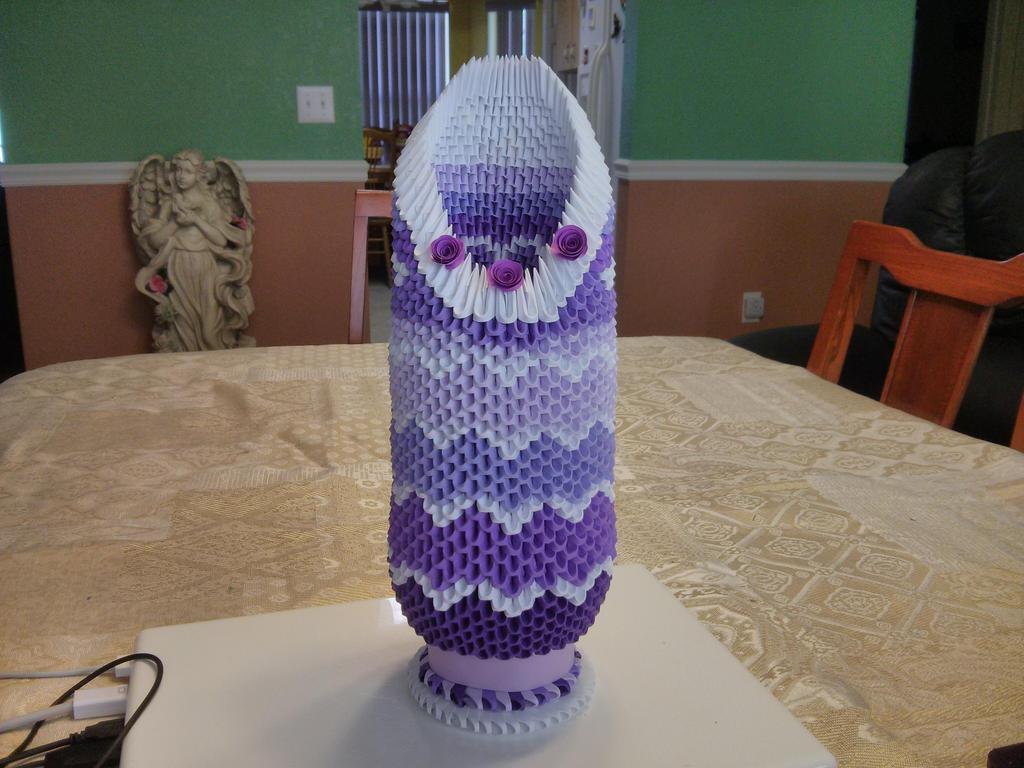3d Origami Vase By Esmeraldaarribas On Deviantart