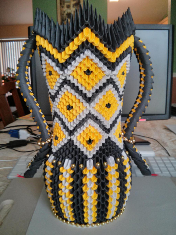 3d Origami Snake Vase By Esmeraldaarribas On Deviantart