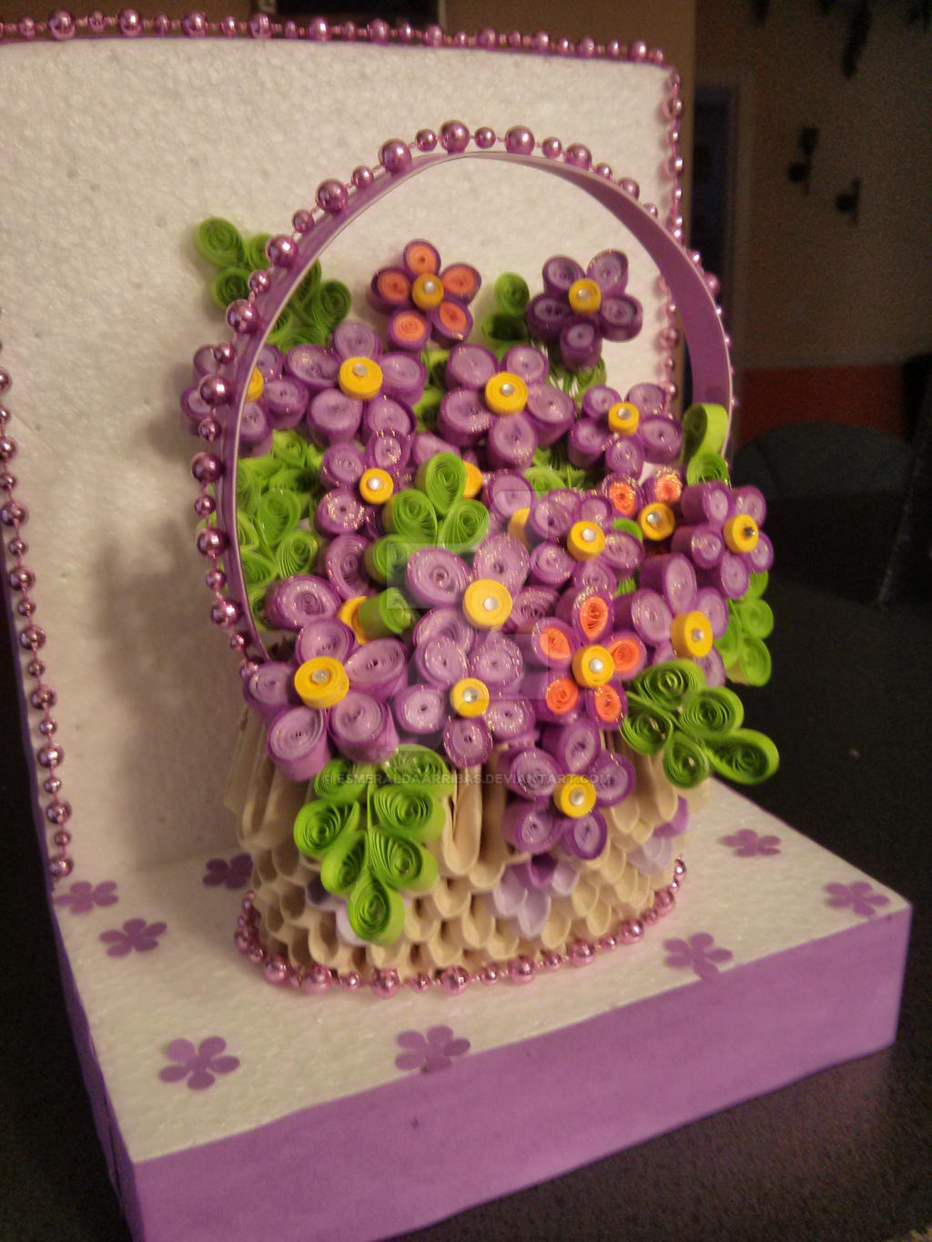 How To Make Paper Quilling Flowers Basket Affordable Paper Quilling