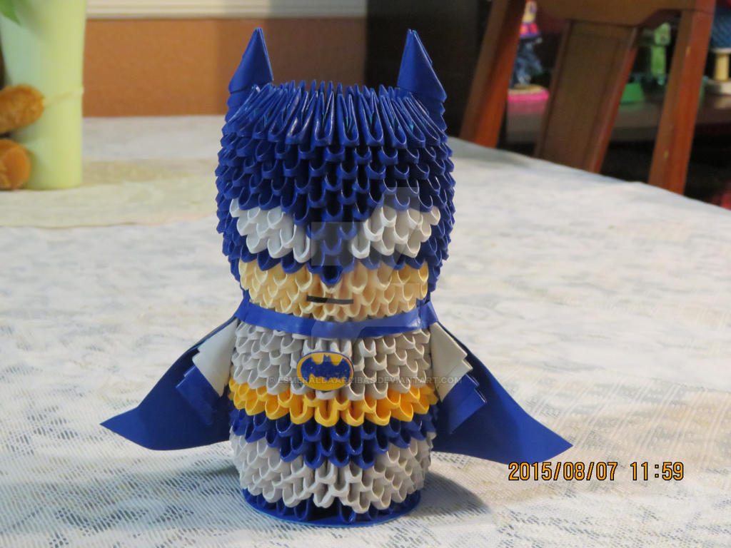 3d Origami Batman By Esmeraldaarribas On Deviantart