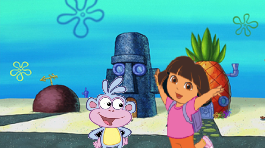 Dora and Boots at Conch Street by RhiannaPiano300