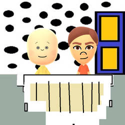 Declan and Caillou playing Caillou's piano