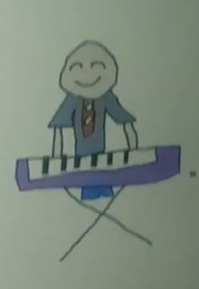 Classic Caillou playing Keyboard