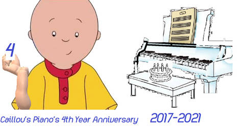 Caillou's Piano's 4th Year Anniversary logo