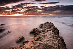 Middle Rock Sunrise by daniel-akinin-photo