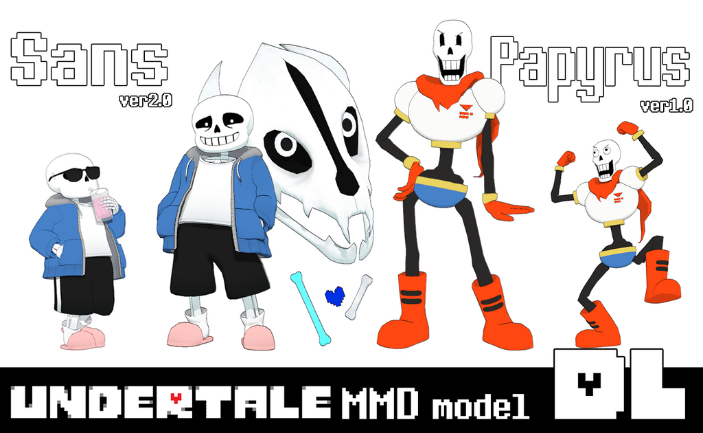 [MMD]Undertale Sans ver2.0 and Papyrus ver1.0 DL by Yukanuntiusel ...