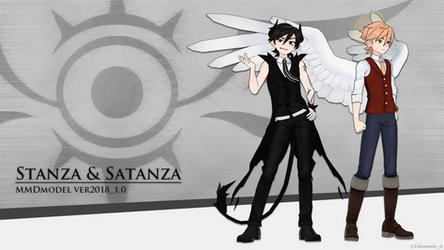[MMD OC]Stanza and Satanza ver2018_1.0[Model DL]