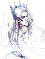 Thranduil sketch by Rociell