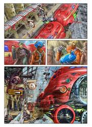 comics - flying red train by avishagi