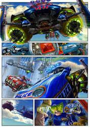 comics -flying blue car by avishagi