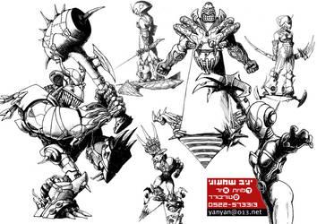 interforce some characters by avishagi