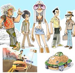 burger characters by avishagi