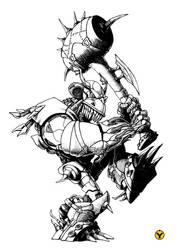 creature with big hammer by avishagi