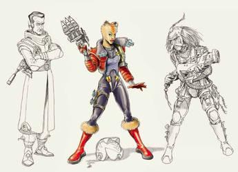 G force - 3 characters by avishagi