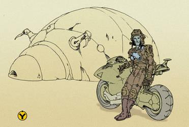 man with moto by avishagi
