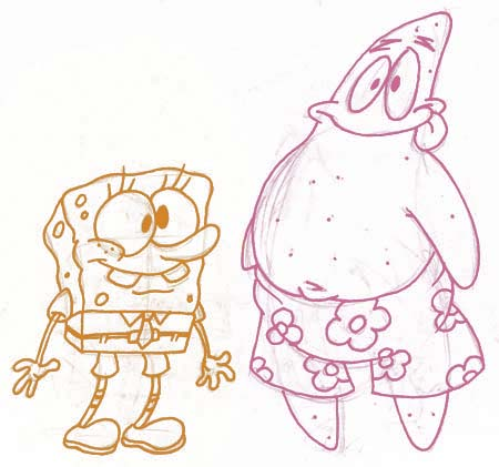 SpongeBob and Patrick by Das-Sketchenbuken