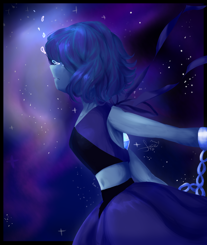 Hi!I want to share this draw with u  my second fav character of SU <3  Lapis Lazuli from Steven Universe, © Rebecca Sugar