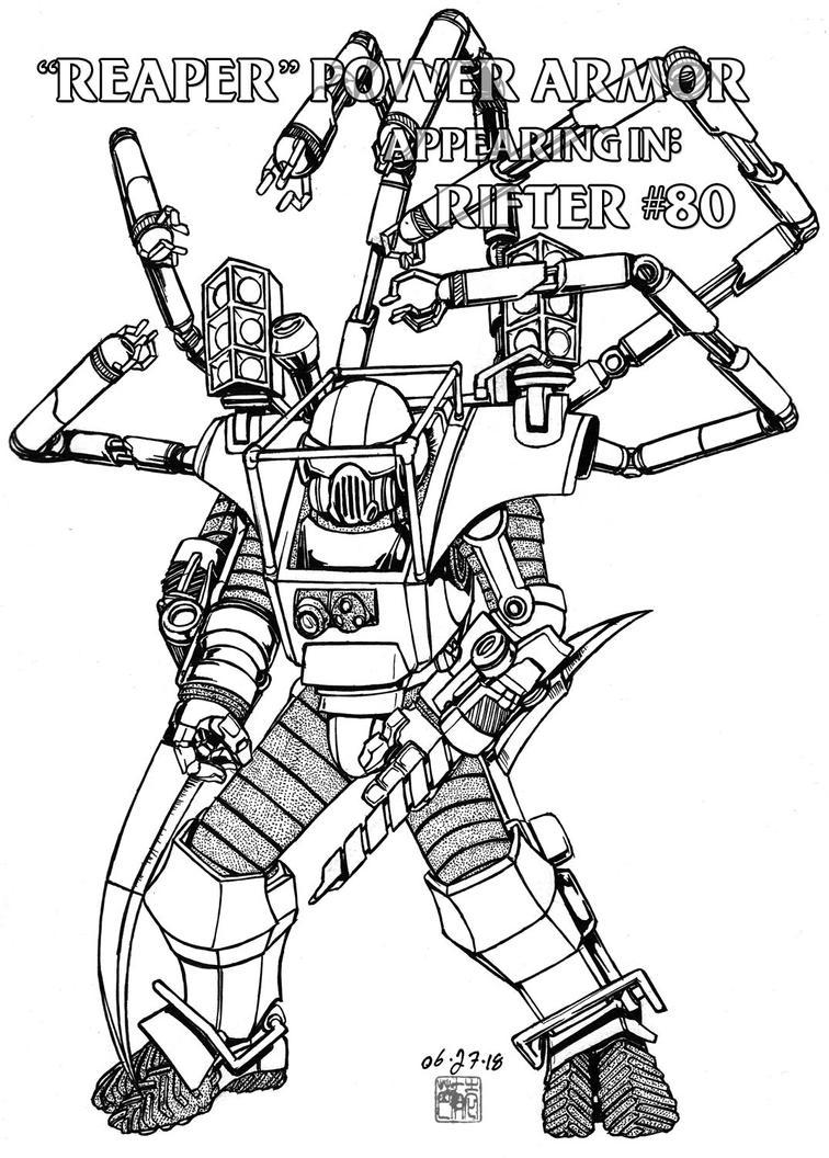 Rifter #80: 'Reaper' Power Armor by bar1scorpio