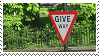Give Way Stamp by mompants300