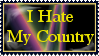 I Hate My Country Stamp by mompants300