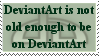 DeviantArt's 11th B-day Stamp by mompants300