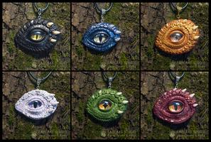 Dragon Eye pendants - for sale by JarviTiralin