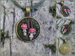 fly agarics pendant - for sale