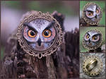Eagle-owl ring - for sale
