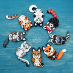 Chibies pendants (the first part) - for sale