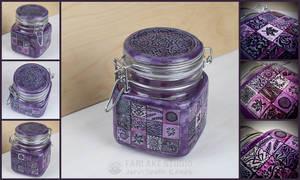 Purple mosaic jar