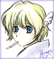 Project Olympus: Hermes doodle by KatYoukai