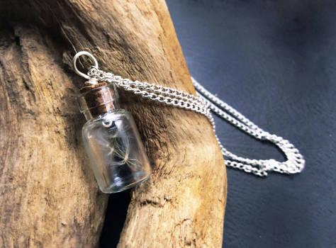 Dandelion wish necklace pendant