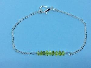 Peridot bar stacking bracelet August birthstone