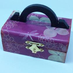Purple floral treasure chest jewellery box