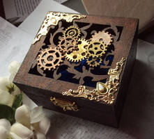 Steampunk Wooden Jewellery Box