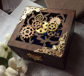 Steampunk Wooden Jewellery Box by Cre8tivedesignz