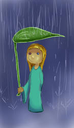 Girl in the rain by PonZet