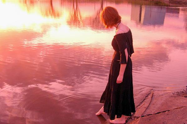 The Lake At Sundown by that damn emu kid