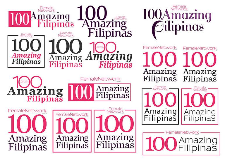 Logo Project: 100 Amazing Filipina by CzaGarcia