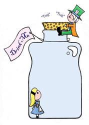 Stuck in a 'Drink Me' bottle by KawaiiUsagiChanSan