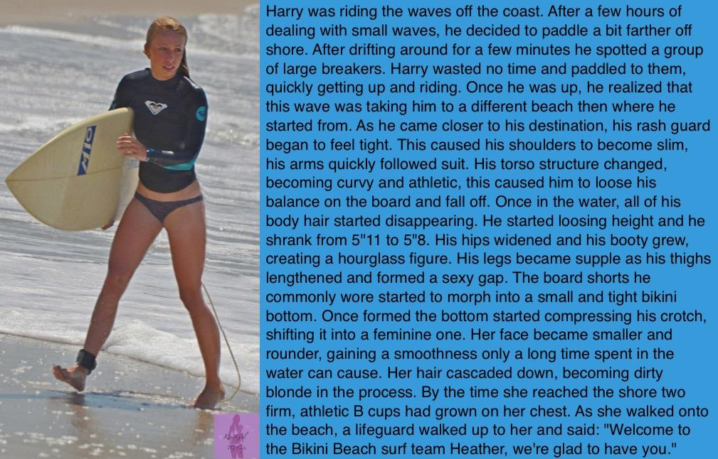TG Captions: Tales from Bikini Beach -