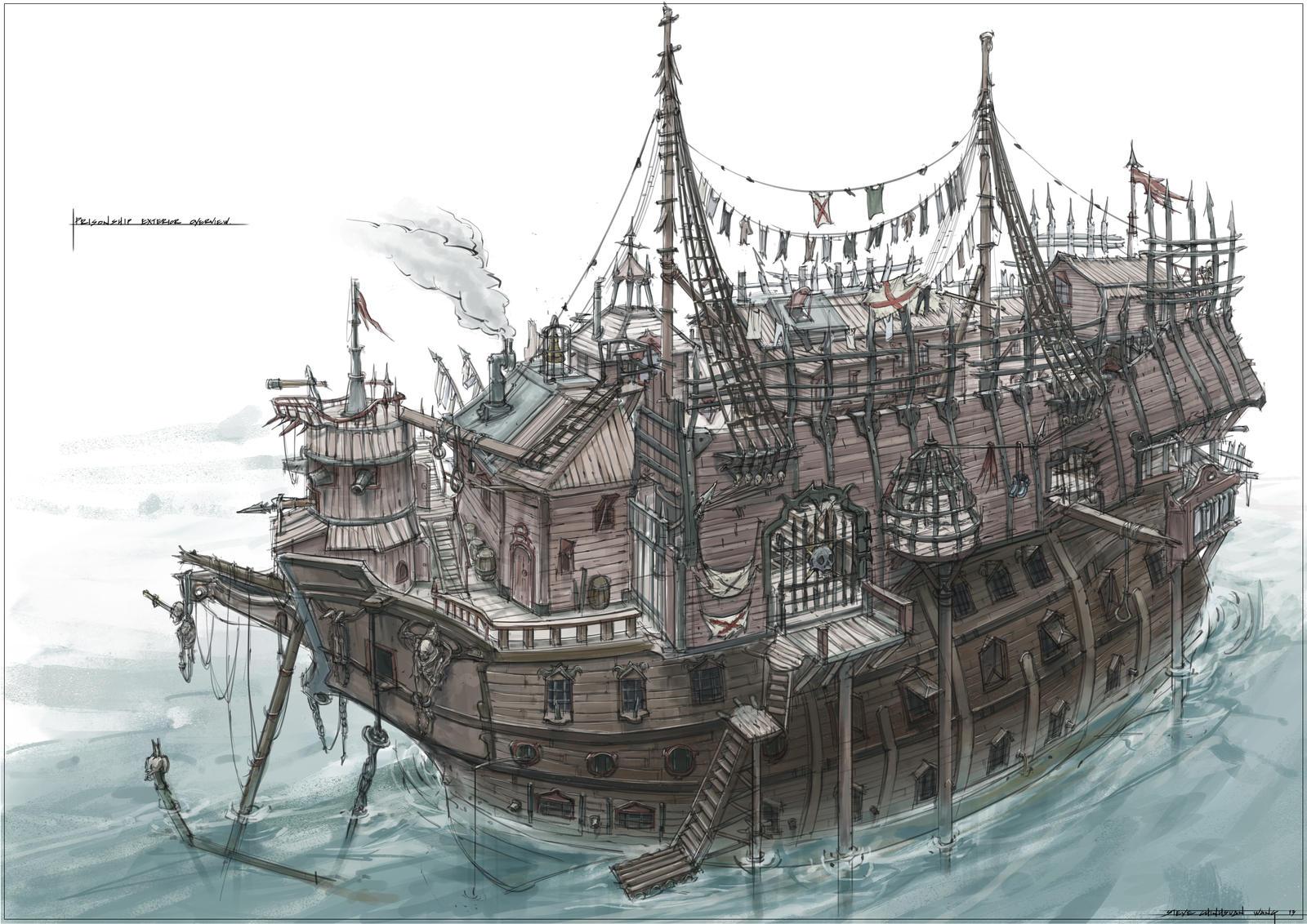 Prison Ship by Sketchshido on DeviantArt
