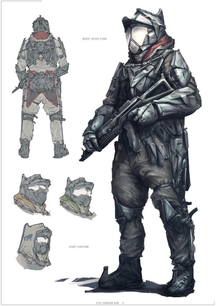 Sci-fi Soldier by Sketchshido on DeviantArt