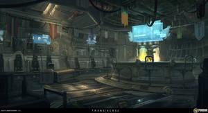 Bar Interior by Sketchshido