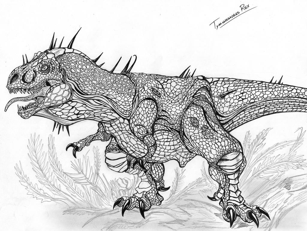 Kleurplaat Alamosaurus Kleurplaat Dinosaurus Tyrannosaurus Rex Afb