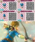 Link Zelda Wii U T-Shirt - ACNL QR